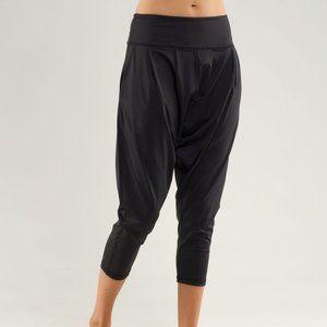 Rare Lululemon Black Cropped Harem Yoga Pant